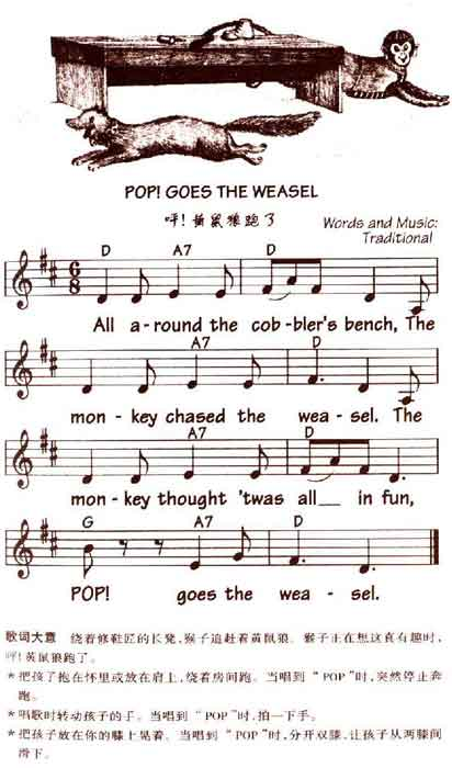 儿童英语歌曲 pop goes